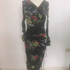 Diane Von Furstenberg dress in floral print size 4